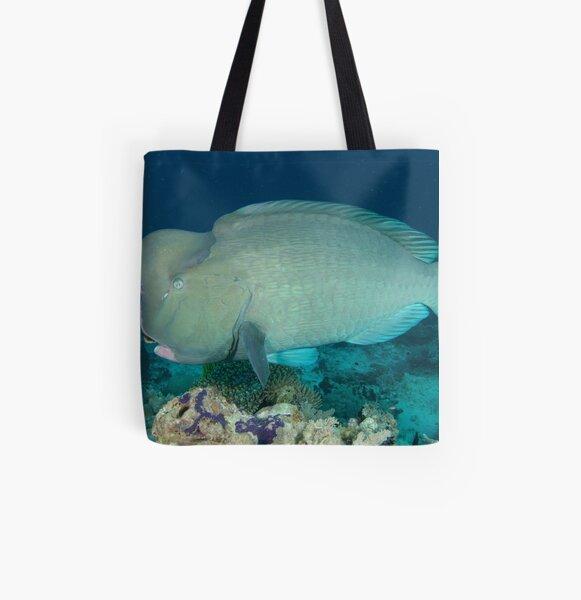 Bumphead parrotfish - Bolbometopon muricatum All Over Print Tote Bag