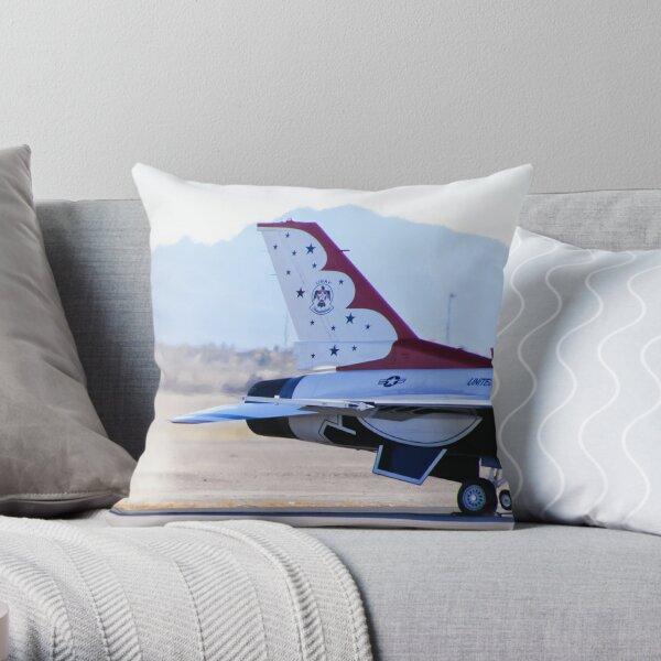 USAF Thunderbird #1 Engine Start Throw Pillow