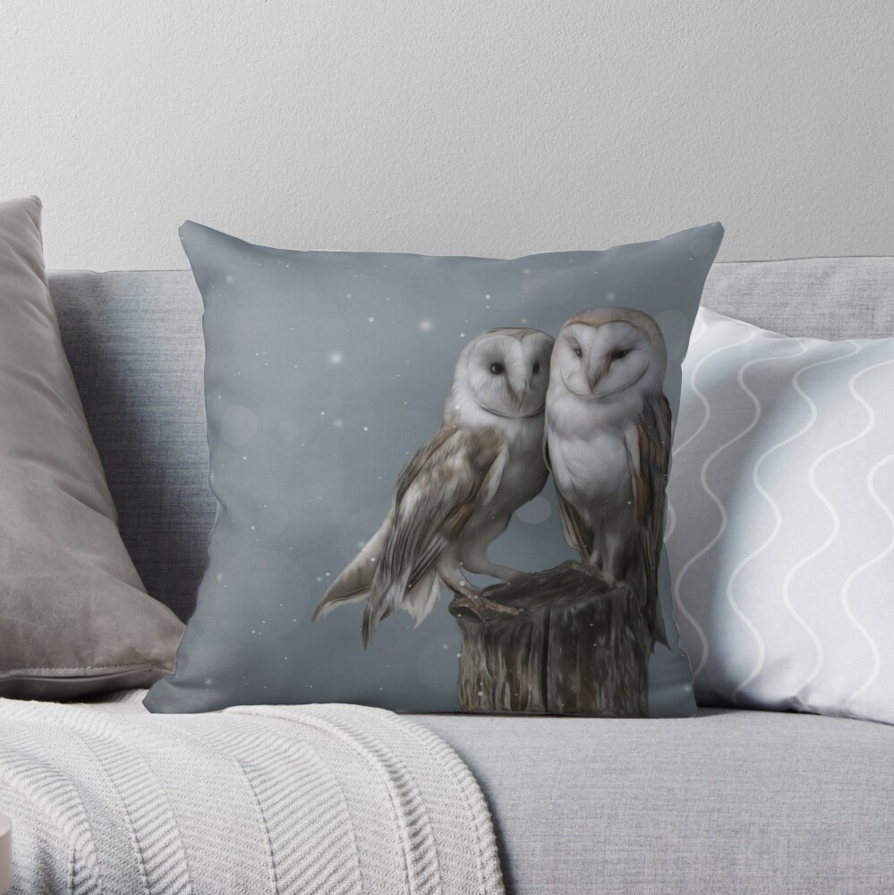 Silent Watchers Throw Pillow