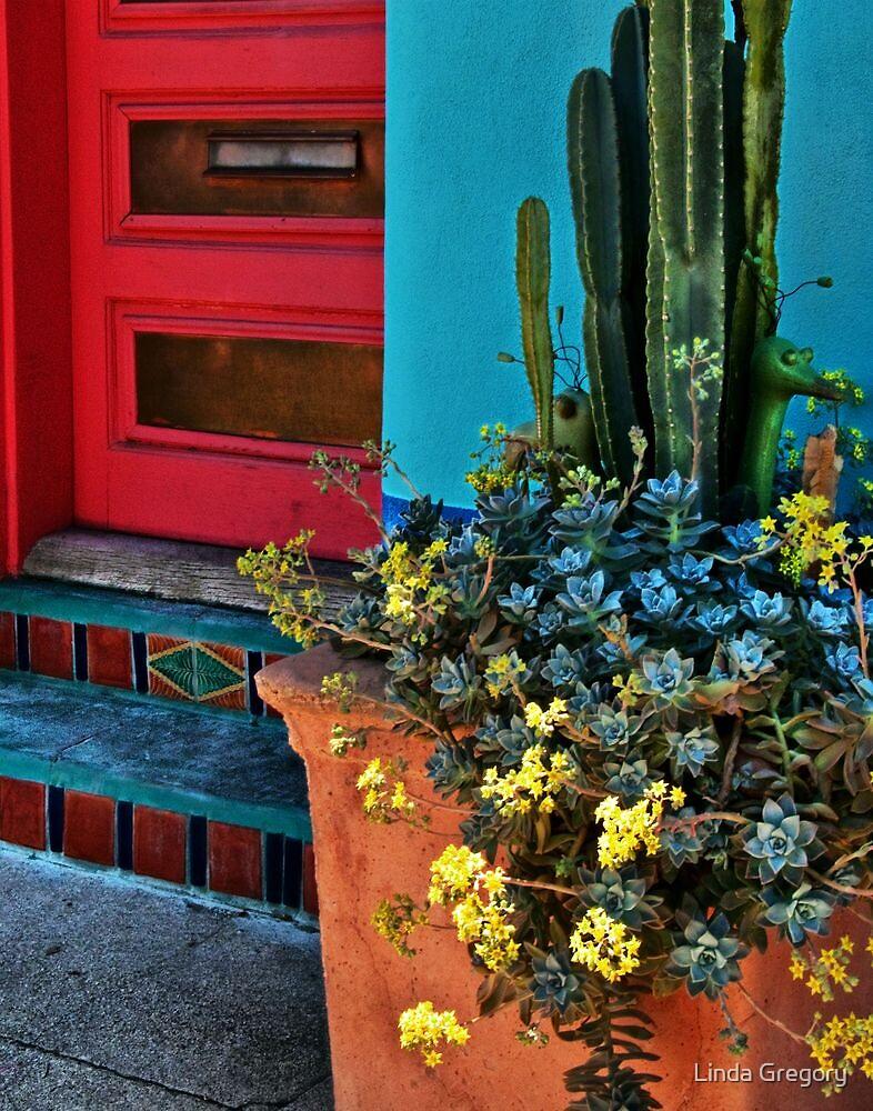 Red Door in the Barrio by Linda Gregory
