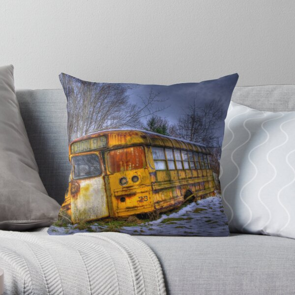 School Bus 23 Throw Pillow