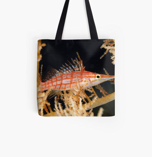 Longnose hawkfish - Oxycirrhites typus All Over Print Tote Bag