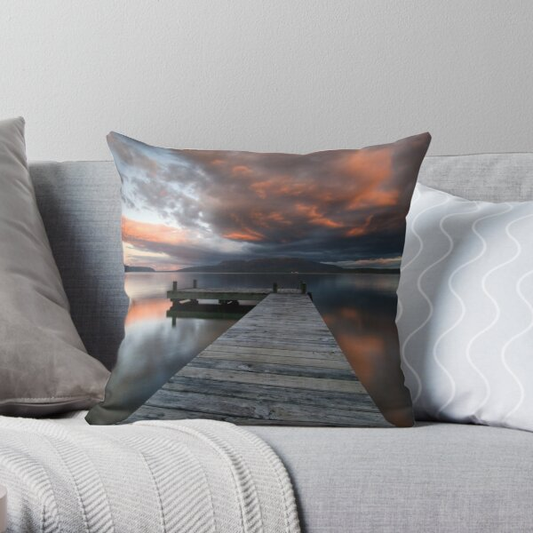 Nightfalls, Tarawera Throw Pillow