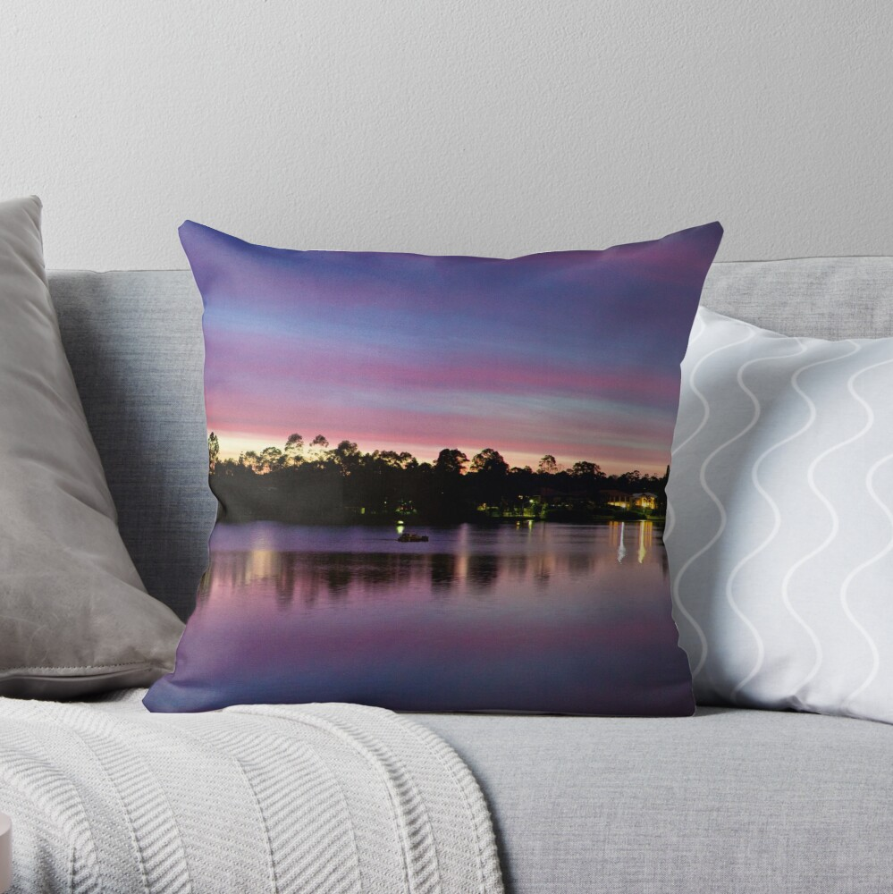 Natures Light Show Throw Pillow