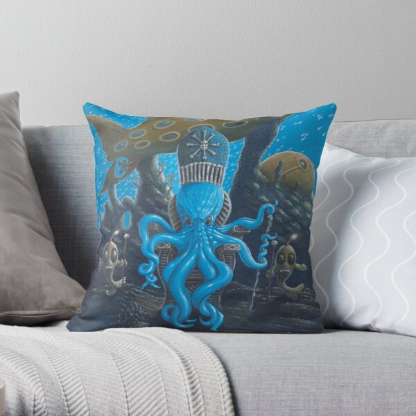 The Mighty Bloop Throw Pillow