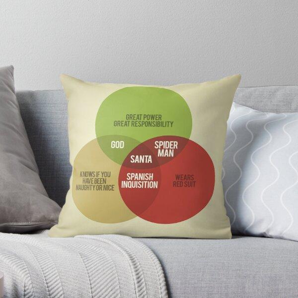 Santa Venn Diagram Throw Pillow