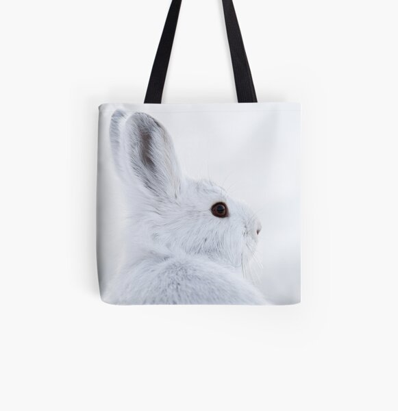 Snowshoe Hare All Over Print Tote Bag