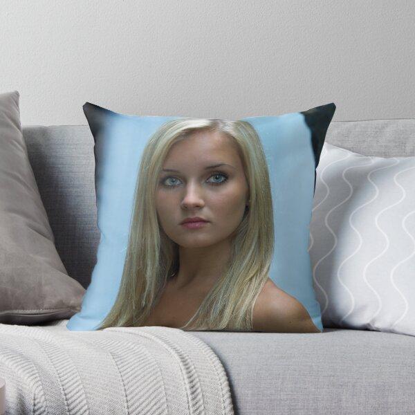 Sage - Summer Portrait Throw Pillow