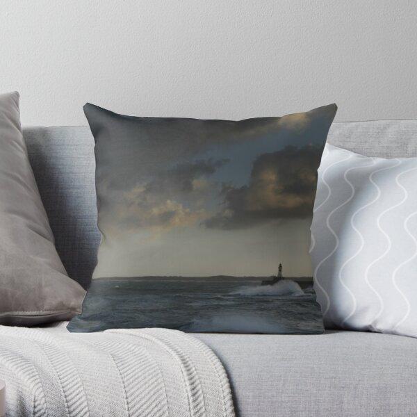 Fraserburgh Lighthouse Throw Pillow