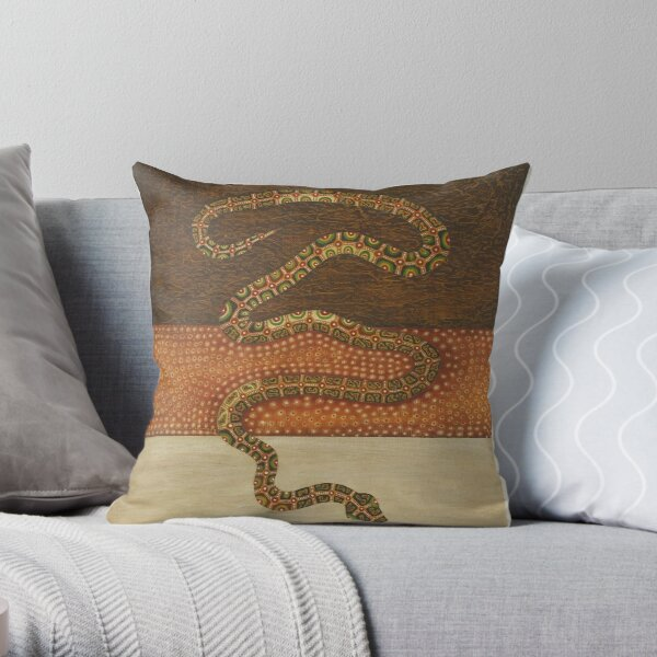 Wautt paardalaniny - (moving camp, all together) Throw Pillow