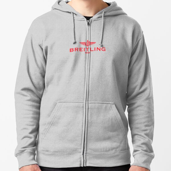 Breitling Red Logo Zipped Hoodie