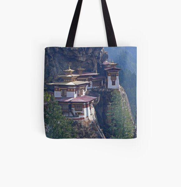 Tigers Nest Monastery All Over Print Tote Bag