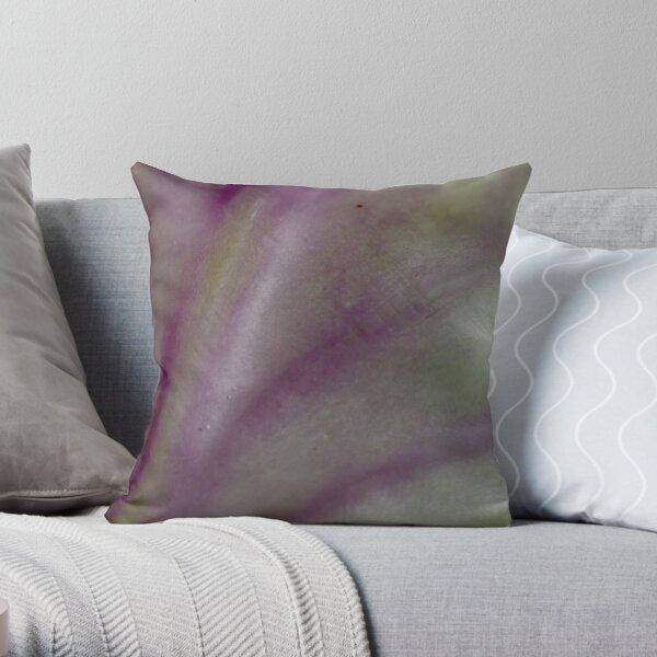 watercolour veins Throw Pillow