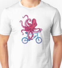 Radfahren Krake Slim Fit T-Shirt