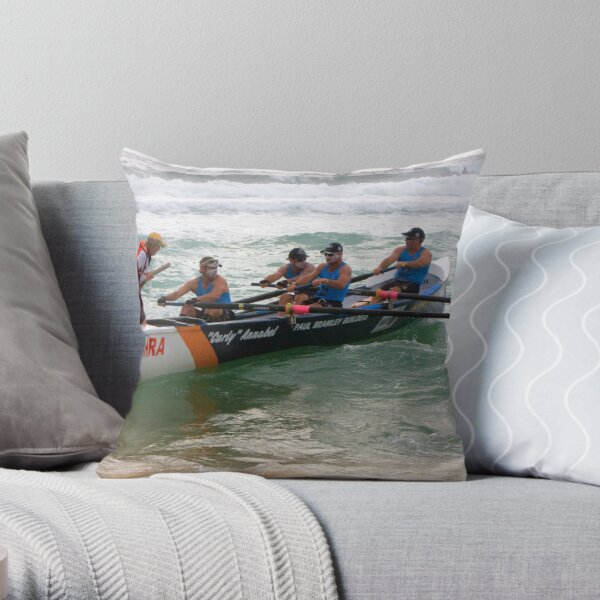 George Bass Surf Boat Race 2012 Throw Pillow