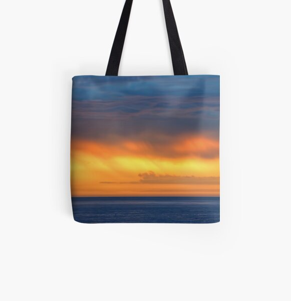 Golden Rain All Over Print Tote Bag