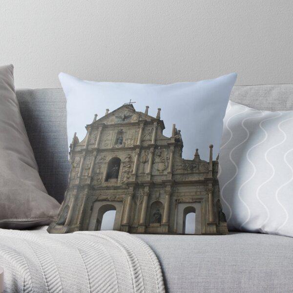 The Ruins of St. Paul's, Macau Throw Pillow