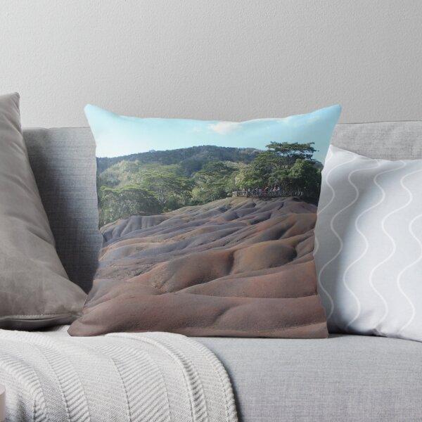 Seven Coloured Earth, Mauritius Throw Pillow
