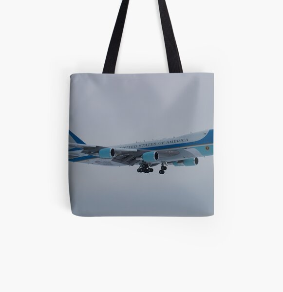 Side Shot of Air Force One On Approach to KCLE January 2012 All Over Print Tote Bag