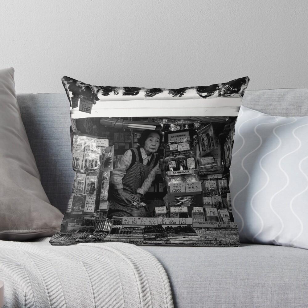 Electronics Lady – Japan Throw Pillow