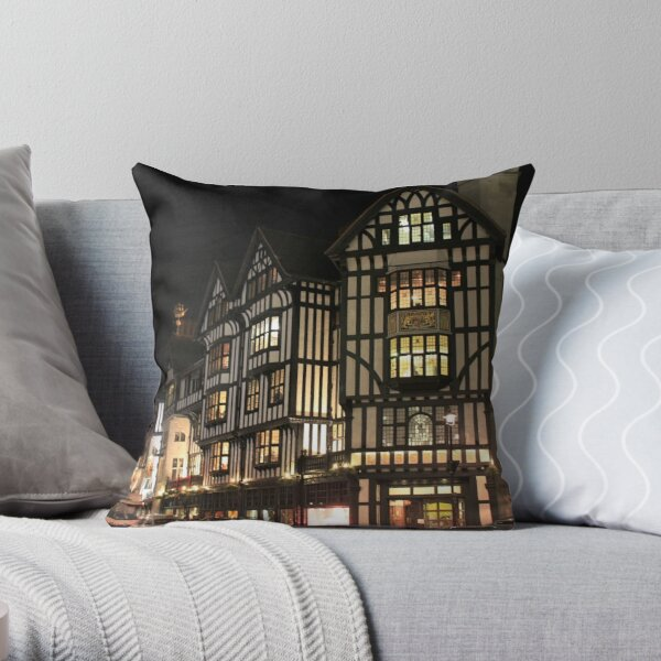 Old Architecture at London Throw Pillow