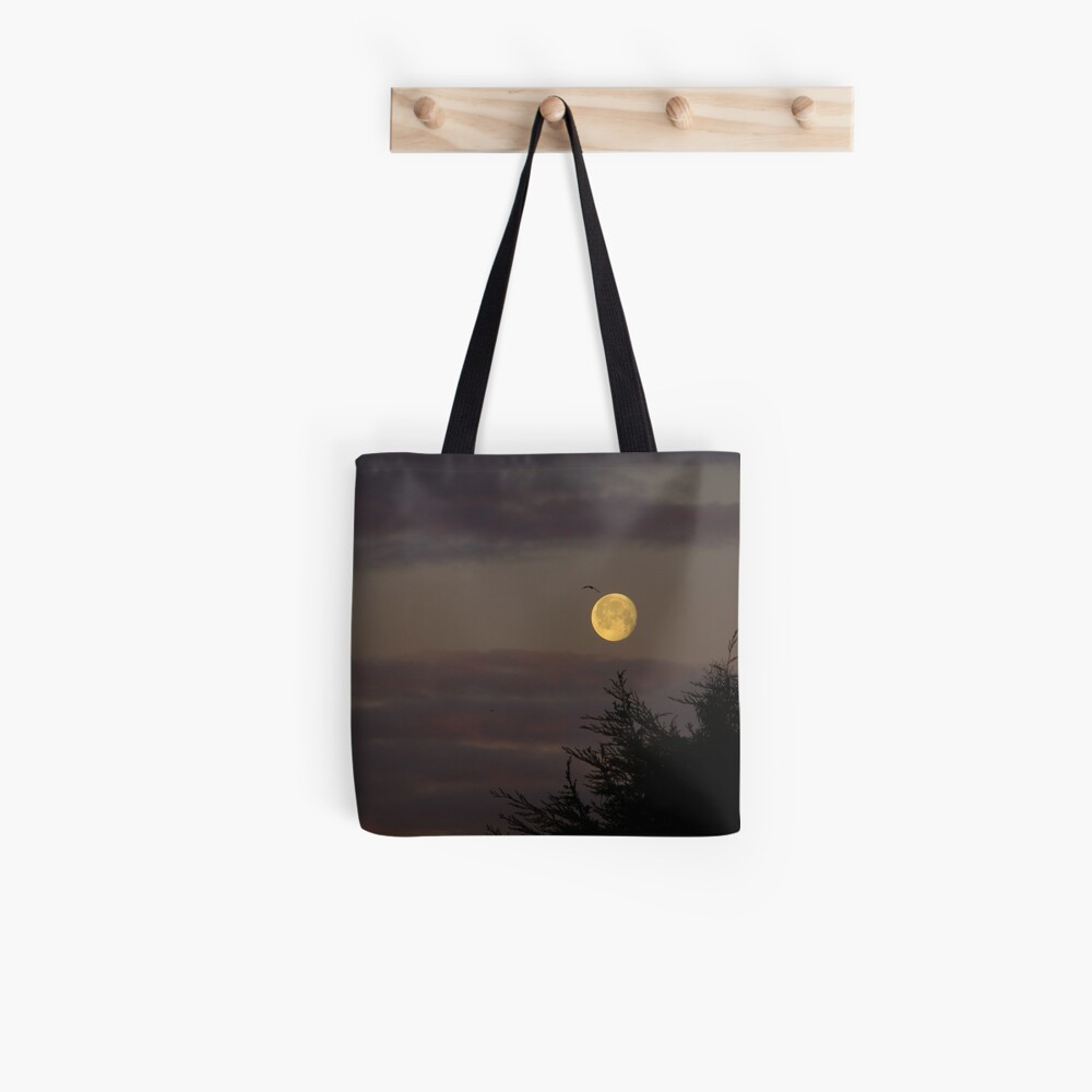 Morning Setting Moon Tote Bag