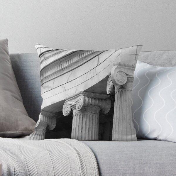 Classical  marble Columns Throw Pillow