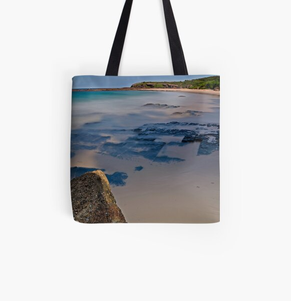 Coal Seam, Catherine Hill Bay All Over Print Tote Bag