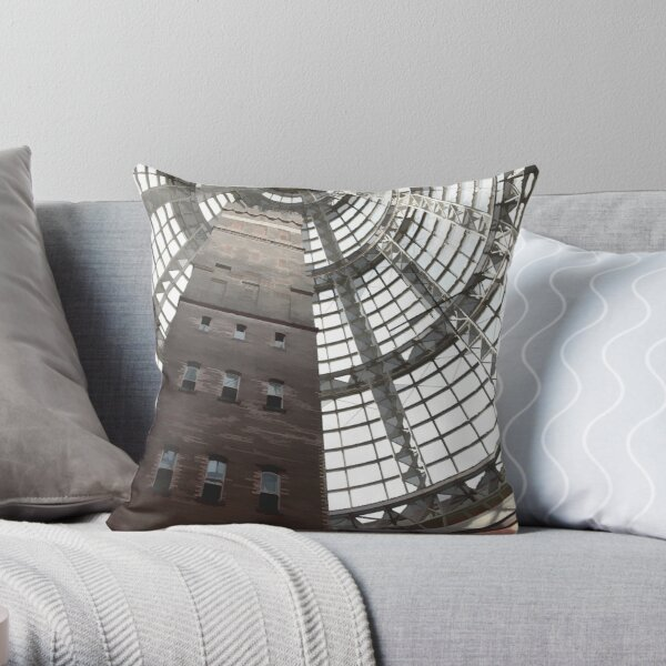 Lead Pipe and Shot Factory Throw Pillow