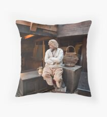 Male Pilgrim on the Mayflower 2 Throw Pillow