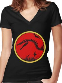Spiny Women's Fitted V-Neck T-Shirt
