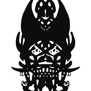 Black Clown Tribal by 319media