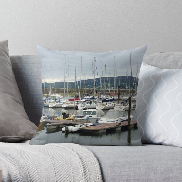 Lough Swilly Marina Throw Pillow