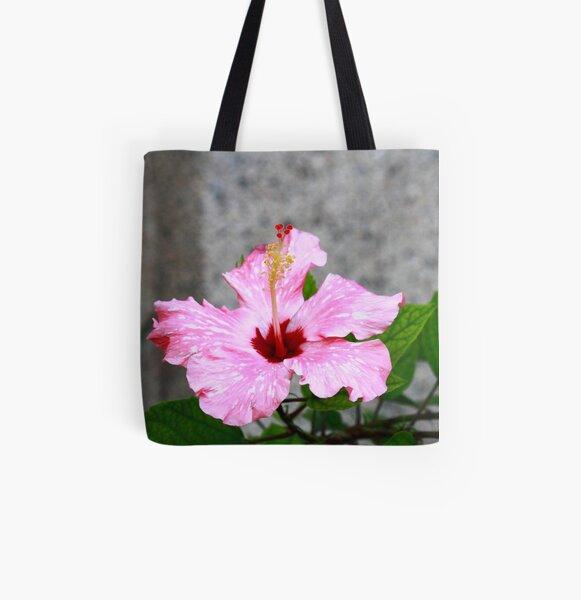 Hibiscus rosa-senensis Linn. All Over Print Tote Bag