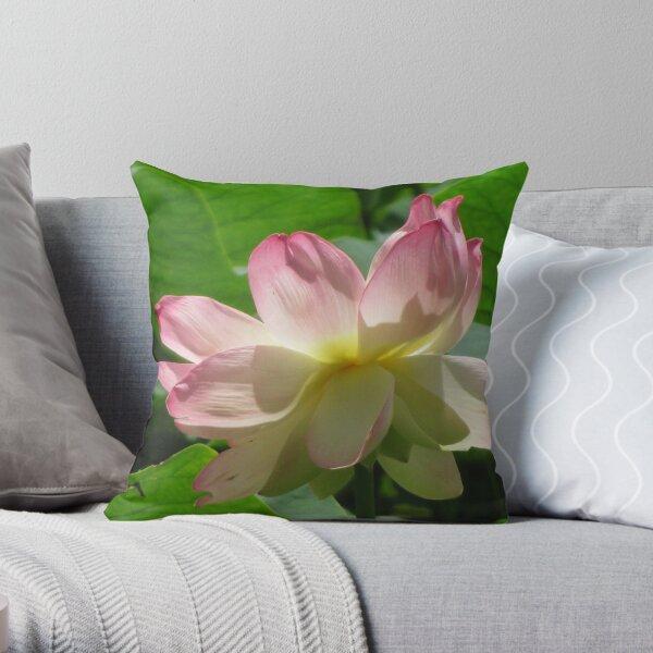 pink lotus Throw Pillow