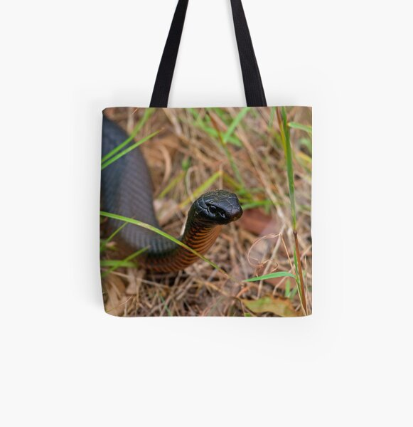 Red Belly Black Snake All Over Print Tote Bag
