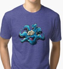 Happy Tentacle head chest burster Tri-blend T-Shirt