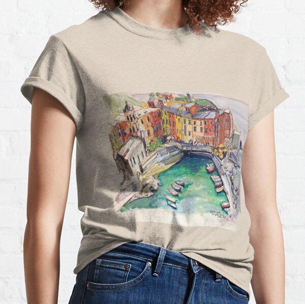 'Vernazza. Cinque Terre Italy' p&w  Classic T-Shirt