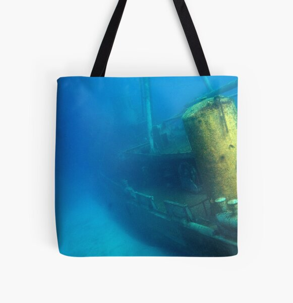 Kittiwake Wreck - Artificial Reef Celebrates Its First Birthday All Over Print Tote Bag