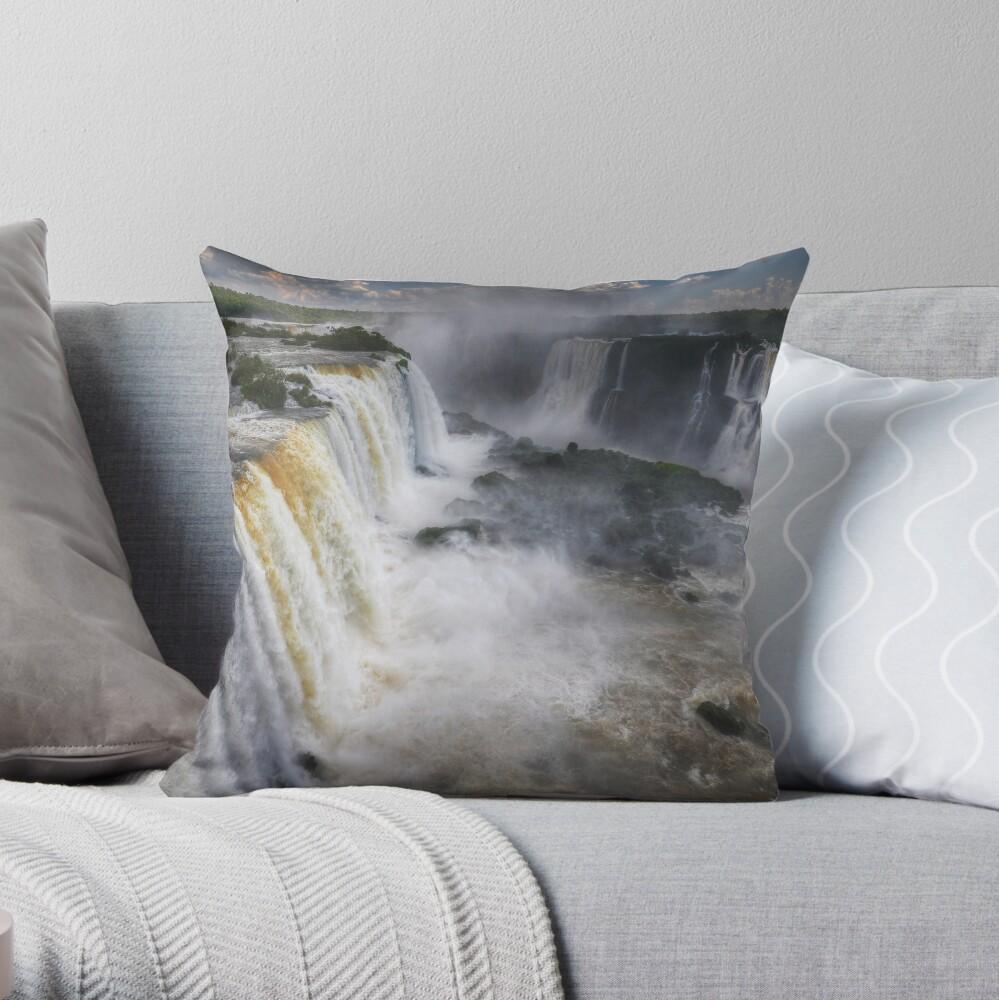 Waterfall Maelstrom Throw Pillow