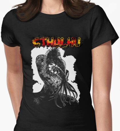 Minion of Cthulhu in Ceremonial Mask Tee T-Shirt