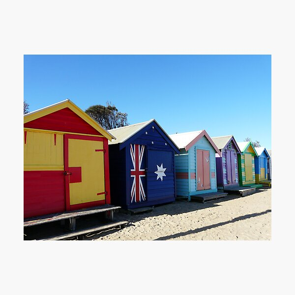 Brighton Beach Huts Photographic Print