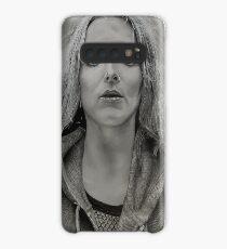 Jodie Comer B&W Portrait Case/Skin for Samsung Galaxy