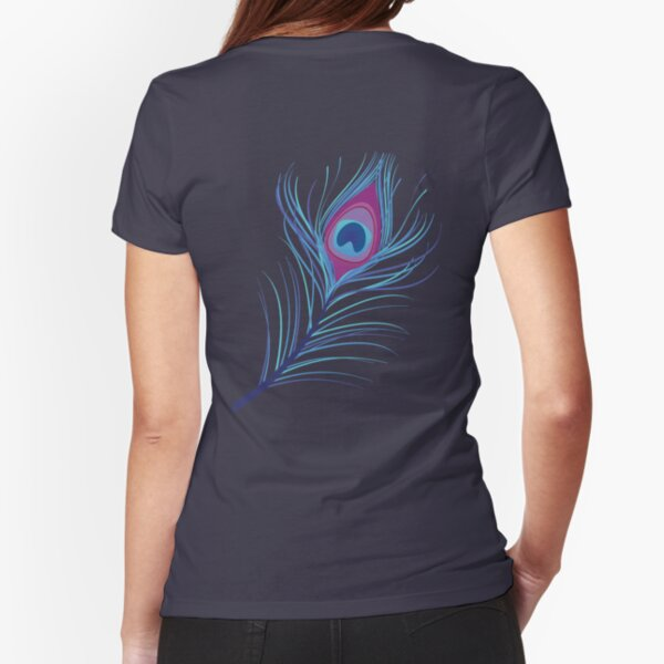 the peacock feather Fitted T-Shirt