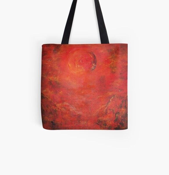 RED MOON RISING  All Over Print Tote Bag