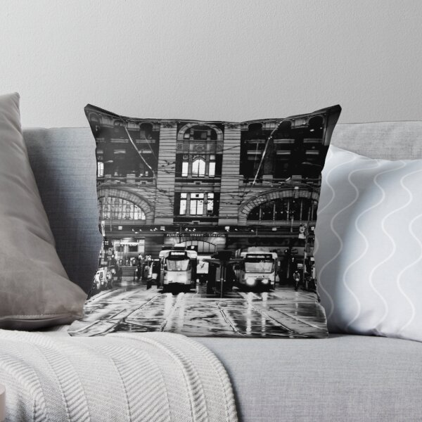 Elizabeth St Melbourne Throw Pillow