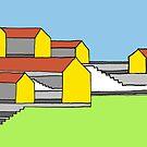 «Escaleras y casas de colores - No .: 02» de Istvan Ocztos