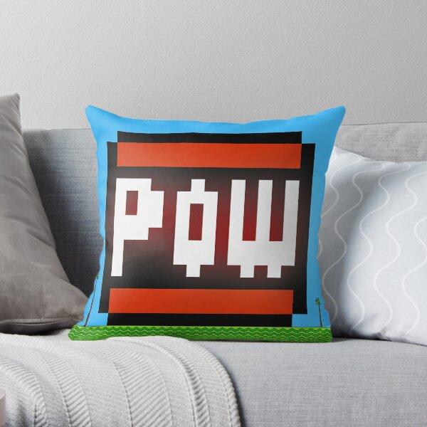 Big POW Throw Pillow