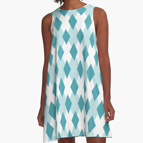 Argyle-Karomuster_46A4B0 A-Line Dress