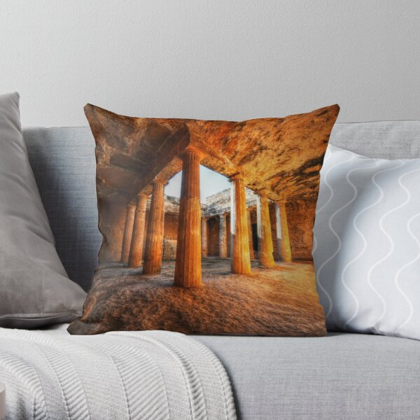 Tombs Of The Kings - Cyprus Throw Pillow